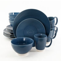 Gibson Overseas Rowland 16-Piece Dinnerware Set in Blue