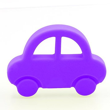 AILAMS Car Baby Teether Ring - Food Grade Silicone BPA Free FDA Approved,Toddlers Teething Toy (Purple)
