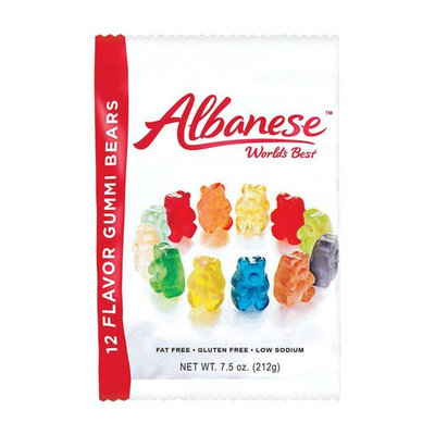 Albanese 12 Sour Flavors Gummy Bears 7 oz. (Pack of 12)