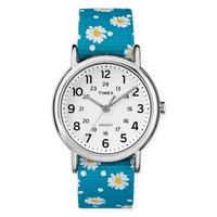 Ladies Timex Blue Weekender Watch-TW2R240009J, Blue