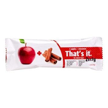 Thats It 1841766 Apple Cinnamon - Fruit Bar Zesty 1.2 oz - Case of 12