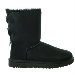 Women's Ugg 'Bailey Bow Ii' Genuine Shearling Lined Boot, Size 7 M - Black