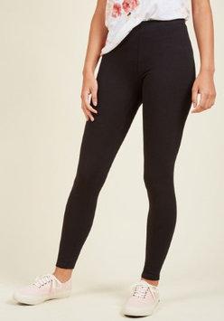 Modcloth Simple and Sleek Leggings in Black