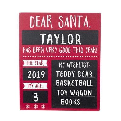 Pearhead Christmas Wish List Photo Sharing Chalkboard