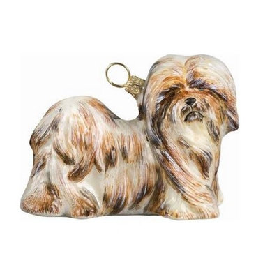 Joy to the World Pet Ornament, Lhasa Apso