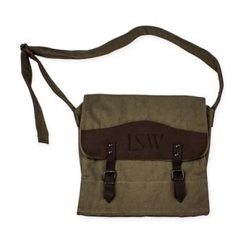 Cathys Concepts Personalized Canvas & Leather Messenger Bag