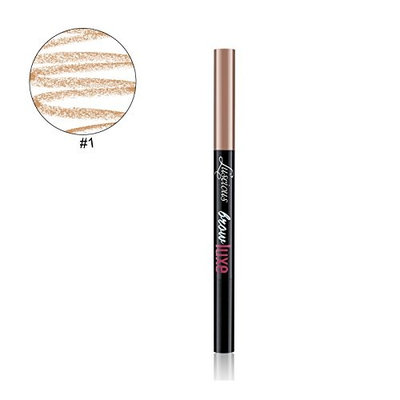 Brow Luxe Eyebrow Designer Pencil by Luscious Cosmetics.Vegan and Cruelty Free (Shade 01 Light/Blonde)
