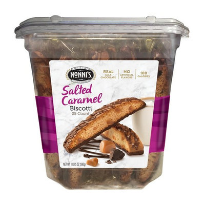Nonni's Biscotti Value Pack, Salted Caramel, 25 Count, 1.3 Pound [Salted Caramel]