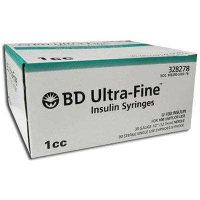 BD Ultra-Fine Insulin Syringes 30G 1cc 1/2 in - 90 ea
