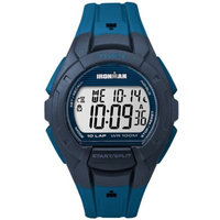 Timex - Ironman Essential 10 Full-Size Resin Strap (Blue/Black) Watches
