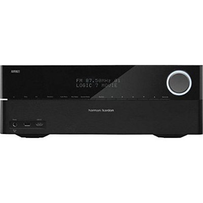 Harman/Kardon 7.1 Channel 100W Network-Connected Audio/Video Receiver with AirPlay & 8 HDMI Inputs, 120Hz-20kHz Frequency Response