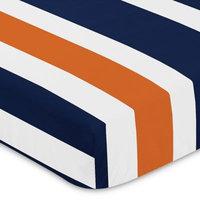 Sweet Jojo Designs Stripe Fitted Crib Sheet