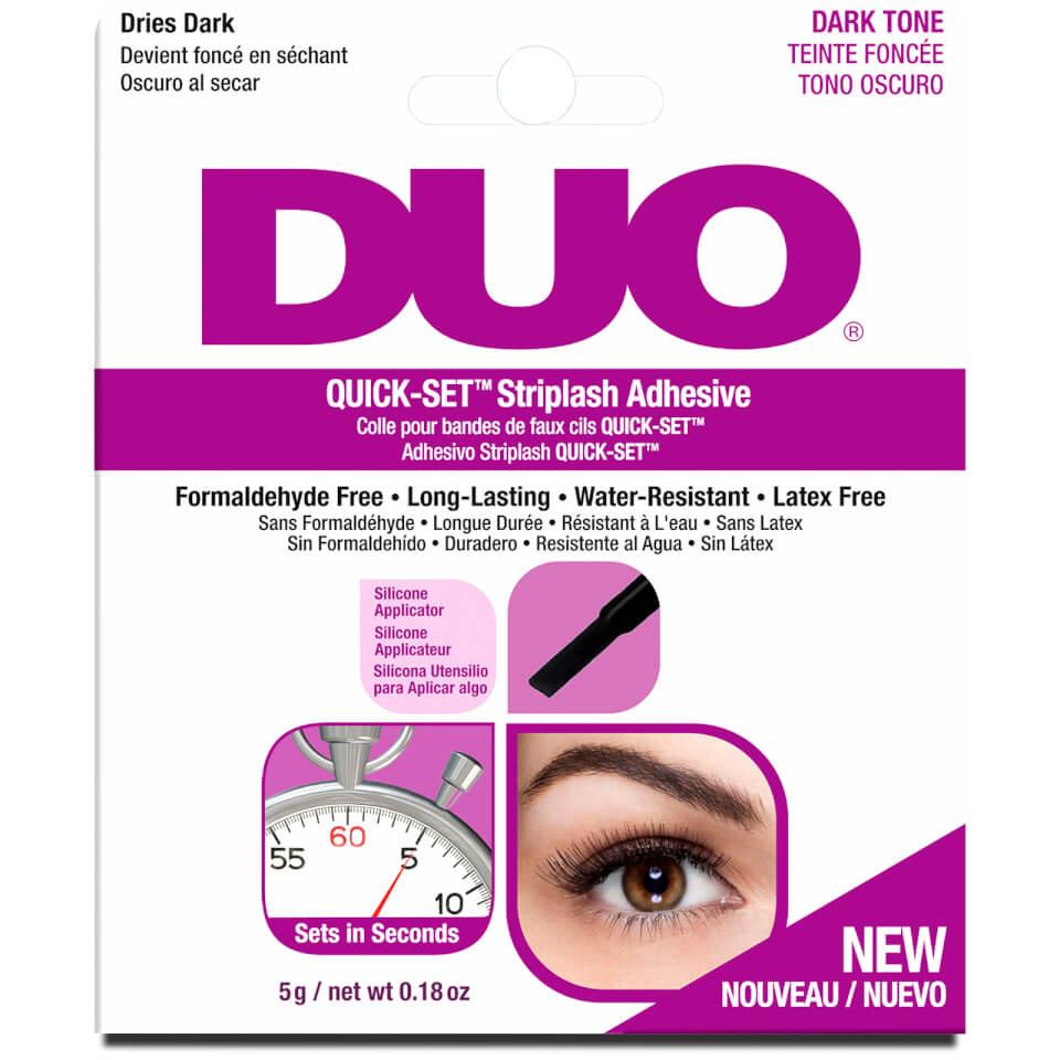 Duo Eye Lash Quick Set Striplash Long Lasting Adhesive With Applicator Dark Tone