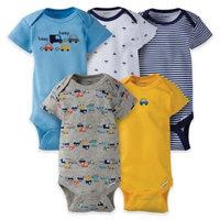 Gerber® Onesies® Newborn 5-Pack Car Short Sleeve Bodysuit