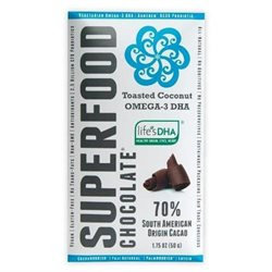 Good Superfoods Chocolate Bars Toasted Coconut Omega-3 DHA 1.75 oz