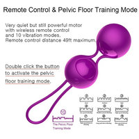 Orlena 2 in 1 Kegel Exercise Weights Kit Ben Wa Balls Kegel Balls for Women Beginners, Silicone Wireless Remote Control Massager Rechargeable &...