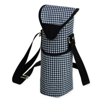 Picnic At Ascot Houndstooth Single Bottle Tote