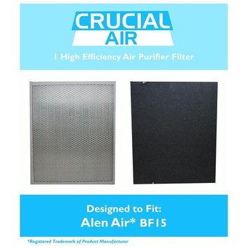 Crucial Air Filter Fits Alen Air Air BF15, Compatible with Alen Air A350 Air Purifier