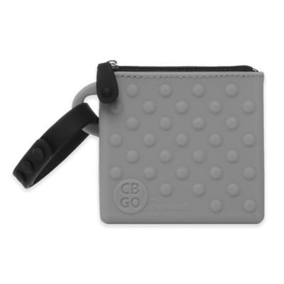 chewbeads® CB Go Silicone Small Pouch in Grey
