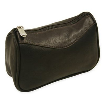 Piel Leather Carry-All Zip Pouch - Chocolate