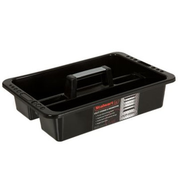 Stalwart 16 in. Portable Plastic Utility Tool and Supply Caddy, Black
