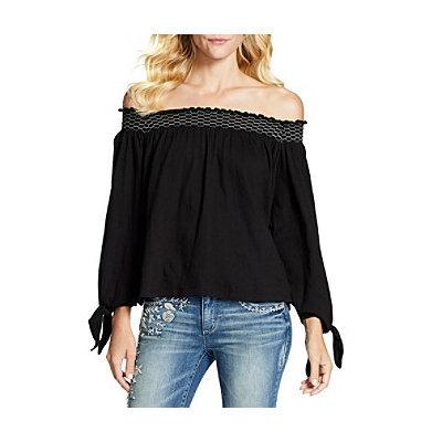 Jessica Simpson Marlena Off-the-Shoulder Top-BLACK-Large