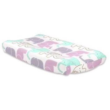 The Peanut Shell® Little Peanut Elephant Changing Pad Cover in Lilac