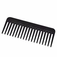 1 Sets Combs Hair Brush Teeth Black Plastic Heat-resistant Large Wide Tooth Comb Detangling Hairdressing Combo Pocket Long Round Handle Holder Pleasing Popular Beard Natural Grooming Girl Travel Kit