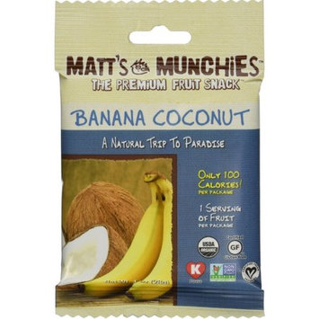 Matt's Munchies The Premium Fruit Snack - Banana Coconut - 1 oz - 12 ct