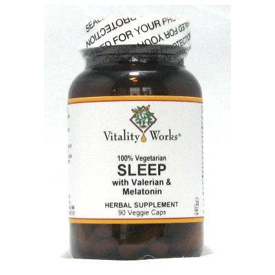 Sleep with Valerian & Melatonin Vitality Works 90 VCaps