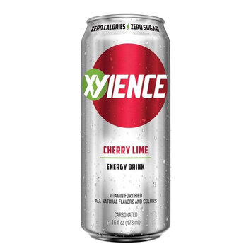 XYIENCE Energy Drink | Cherry Lime | Sugar Free | Zero Calories | Natural Flavors | Vitamin Fortified | 16 Ounce (Pack of 12)