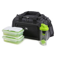 Arctic Zone Portion Control Insulated Duffel Lunch Bag (Black)
