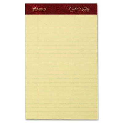 Ampad Gold Fibre Writing Pads, Jr. Legal Rule, 5 X 8, 4 50-Sheet Pads/Pack, 50, 20 Lb, Ruled Pads