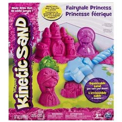 Spin Master Kinetic Sand Fairytale Princess - Sand In The Kit Is A Fabulous, Bright Pink, And The Lid Of The Box Is Coated And Printed With A Fairytale Field Complete With Lily Pad Pond, (6026382 3)