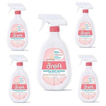 5 Pack of Dreft 22 oz. Trigger Spray Laundry Stain Remover