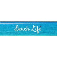 Little B LBFT25mm-2489 25mm x 10 m Decorative Foil Tape - Silver Beach Life