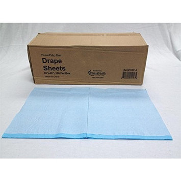 Clinical Health Services, Inc. Disposable Tissue/Poly Flat Drape Sheets, 40