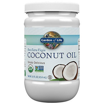 Organic Extra Virgin Coconut Oil Liquid in Plastic Jar, 14 oz, Garden of Life