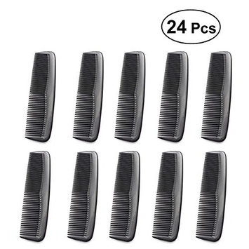 Frcolor 24pcs Salon Hair Combs Hair Styling Hairdressing Anti Static Barbers Detangle Comb Black