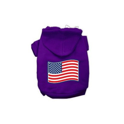 Mirage Pet Products Paws and Stripes Screen Print Pet Hoodies Purple Size XXXL(20)