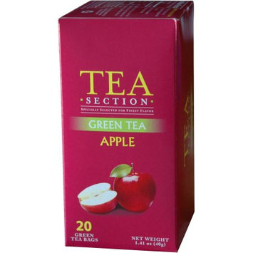 Tea Section Apple Green Tea 20 Bags - Case of 6