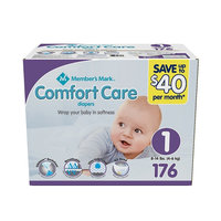 Member's Mark Comfort Care Baby Diapers, Size 2, 12 - 18 lbs. (196 ct.)