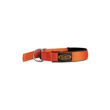 Mud River The Swagger Dog Collar in Blaze Orange Size: Medium