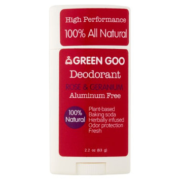 Green Goo Rose & Geranium Deodorant, 2.2 oz