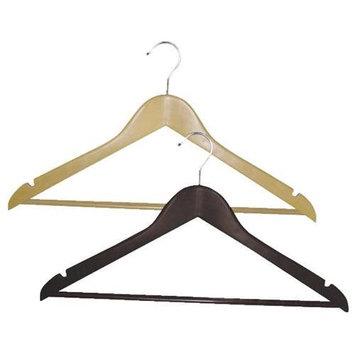 Homz Wood Suit Clothes Hanger