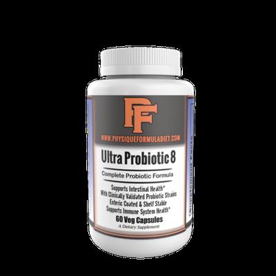 Physique Formula Ultra Probiotic 8:High Potency NON-GMO Probiotic With Lactobacillus acidophilus, casei, rhamnosus, salivarius & Bifdobacterium bifidum, longum, lactis & Streptococcus thermophilus