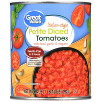 Great Value Italian-Style Petite Diced Tomatoes, 28 oz