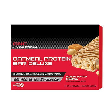 GNC Pro Performance(r) Oatmeal Protein Bar Deluxe - Peanut Butter Caramel