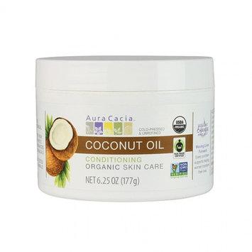 Organic Coconut Oil Unrefined Aura Cacia 6.25 oz Oil