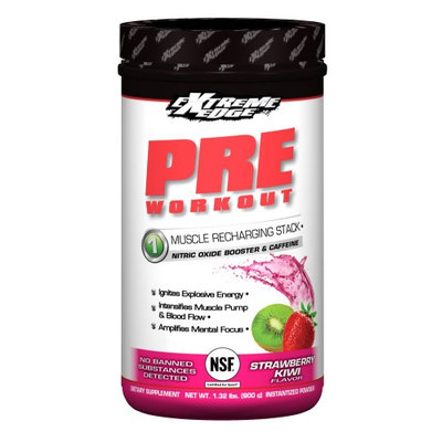 Extreme Edge Pre Workoit Strawberry Kiwi Flavor Bluebonnet 1.32 lb Liquid